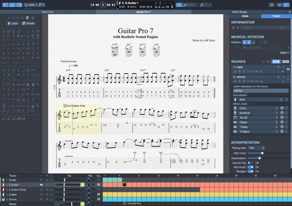 Tablature In Guitar Pro File Format